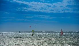 Żagli interny w morzu Zdjęcia Stock