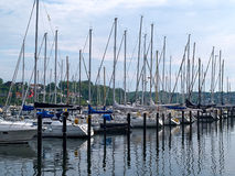 Żagli jachty w marina Fotografia Stock