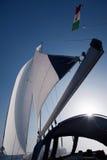 żagli wiatru jacht Zdjęcia Royalty Free