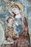 Agliate Brianza意大利:历史的教会,洗礼池 免版税库存图片