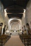 Agliate Brianza -教会内部 免版税库存图片