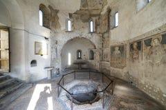 Agliate Brianza, baptistery wnętrze Zdjęcia Royalty Free
