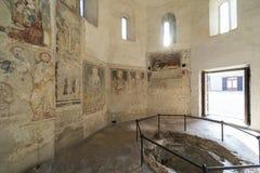 Agliate Brianza, baptistery wnętrze Obrazy Royalty Free