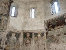 Agliate Brianza, baptistery wnętrze Fotografia Royalty Free