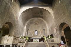 Agliate Brianza - Church interior Royalty Free Stock Photo