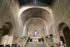 Agliate Brianza - Church interior Royalty Free Stock Photo