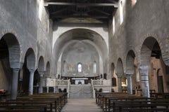 Agliate Brianza Italien: historisk kyrka Arkivbilder