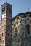 Agliate Brianza Italien: historisk kyrka Royaltyfria Bilder