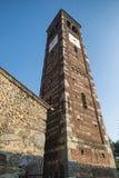 Agliate Brianza Italien: historisk kyrka Arkivfoton