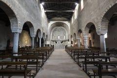 Agliate Brianza Italien: historisk kyrka Royaltyfri Fotografi