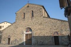 Agliate Brianza Italien: historisk kyrka Royaltyfri Bild