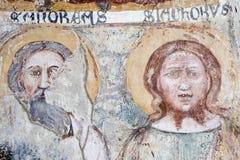 Agliate Brianza Italien: historisk kyrka, baptistery Royaltyfria Bilder
