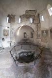 Agliate Brianza Italien: historisk kyrka, baptistery Arkivbilder