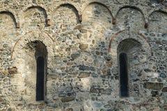 Agliate Brianza Italien: historisk kyrka, baptistery Royaltyfri Foto