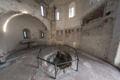 Agliate Brianza Italy: historic church, baptistery Royalty Free Stock Photos