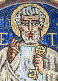 Agliate Brianza, mosaic of St. Peter Stock Photography