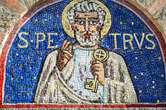 Agliate Brianza, mosaic of St. Peter Stock Image