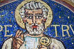 Agliate Brianza, mosaic of St. Peter Stock Images