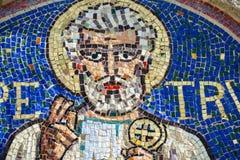 Agliate Brianza, mozaika St. Peter Obrazy Stock