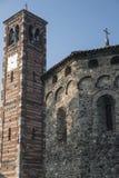 Agliate Brianza Włochy: historyczny kościół Obrazy Royalty Free