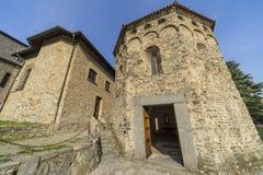 Agliate Brianza Włochy: historyczny kościół, baptistery Obrazy Stock