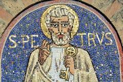 Agliate - Church of San Pietro, mosaic Stock Image