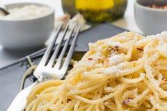 Aglio de l'oglio e de spaghetti Image stock