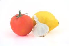 Aglio del limone del pomodoro Immagini Stock