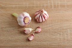 aglio interi lampadina dell'aglio e chiodi di garofano di aglio Fotografia Stock Libera da Diritti