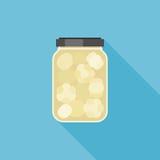 aglio marinato nell'illustrazione di vetro del barattolo Immagini Stock Libere da Diritti