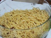 Aglio Olio - Pasta. A bowl of Aglio Olio Stock Photo