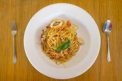 Aglio Olio Pasta Royalty Free Stock Images