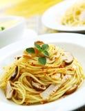 aglio olio spaghetti Fotografia Royalty Free