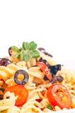aglio zamknięty krańcowy olio makaron krańcowy Fotografia Stock