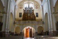 Aglona Basilica, architecture and interiors Royalty Free Stock Photos