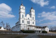 Aglona Basilica, architecture and interiors Stock Photo