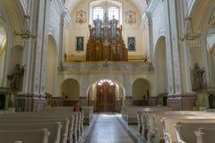 Aglona Basilica, architecture and interiors Stock Photography