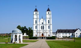 Aglona Church in Latvia. During sunny summer day Stock Image