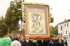 24 09 2018 Aglona, Lettland Sein Heiligkeits-Papst Franziskus-Besuch Lettland lizenzfreie stockfotos