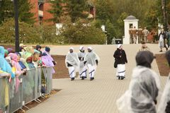 24 09 2018 Aglona, Lettland Sein Heiligkeits-Papst Franziskus-Besuch Lettland stockbilder