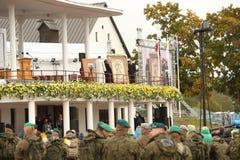 24 09 2018 Aglona, Lettland Sein Heiligkeits-Papst Franziskus-Besuch Lettland lizenzfreies stockbild