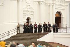 24 09 2018 Aglona, Lettland Sein Heiligkeits-Papst Franziskus-Besuch Lettland stockbild