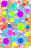 Aglow with Colored Circles Royalty Free Stock Images