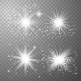 White Glow light set royalty free illustration