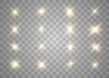 Glowing lights and stars. royalty free illustration