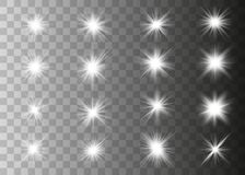 White glowing light royalty free illustration