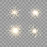 Gold light with dust. royalty free illustration
