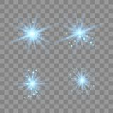 Blue light with dust. vector illustration