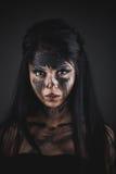Agly okropny makijaż Zdjęcia Royalty Free