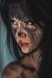 Agly okropny makijaż Fotografia Royalty Free